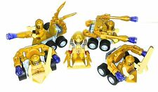 original LEGO parts only -  5 ALIEN ROBO SOLDIERS - MY DESIGN - PARTS FROM 6865