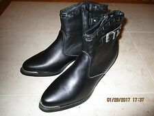 "NEW Women's Dingo ""Alice"" Boots Biker Ankle Cowboy Dress Casual DI565 Black 8M"