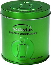 SOCKSTAR SOCKENKLAMMERN Metallic Green Präsentdose = 20 Stück in 4 coolen Farben