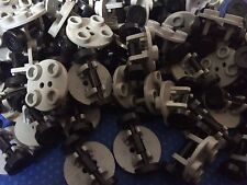 LEGO Small Wheels Tyres 2x2 Plates Round GREY Parts ACCESSORIES MIXED FREE POST