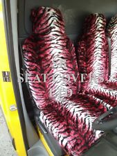 TO FIT A VW LT35 VAN, SEAT COVERS, P3 RED TIGER FAUX FLUFFY FUR