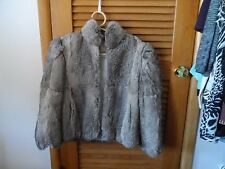Ladies size 14 vintage gray rabbit fur jacket from Princess Caravelle