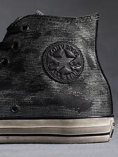 NIB $170 Converse by John Varvatos CT Hi Silver Black 150175C US Mens 8