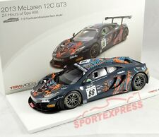 NEW 1/18 TSM 141823r McLaren 4-12c gt3, 24hrs SPA 2013, #88