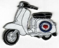 Iron On/ Sew On Embroidered Patch Badge Italian Scooter Lam Bike MOD Roundal