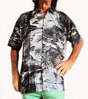 LOUD Hawaiian shirt,black with palms & surfs,L,132.1cm,Stag Night,party,new