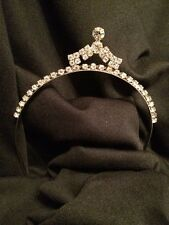 Vintage Rhinestone Crown Tiara Headpiece Bridal Art Deco Prom