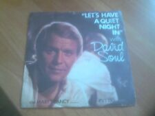 """DAVID SOUL Let's Have A Quiet Night In 7"""" Single Vinyl Record Private Stock 1977"""