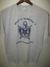 Demolay International Youth Organization Summer Conclave 2012 USA T Shirt Large