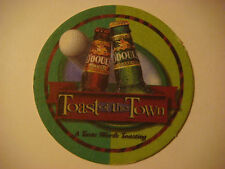 Fun Beer Coaster ~ O'Doul's Amber Ale, Anheuser-Busch ~ Toast of the Town ~ GOLF