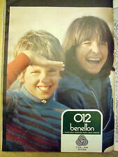 PUBBLICITA' ADVERTISING 1975 MAGLIERIA BENETTON 012 (R11)