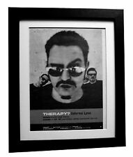 THERAPY+Infernal Love+POSTER+AD+RARE ORIGINAL 1995+FRAMED+EXPRESS GLOBAL SHIP