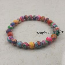 20pcs Mixed Color 6mm Polymer Clay Bracelets For Children Wholesale