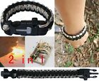 cobra Survival Paracord Bracelet w/ Flint Fire Starter Scraper 9'' + min knife