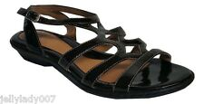 SOFFT Womens Rori Black Patent Leather Gladiator Strappy Sandals 7 M MSRP $97.95