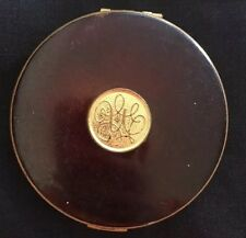 Vintage Revlon Compact Mirror Pressed Powder Metal Case