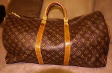 Authentic Louis Vuitton Monogram Keepall 55 Bandouliere Travel Bag