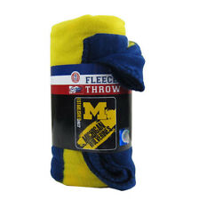 Brand New NCAA Michigan Wolverines Large Soft Fleece Throw Blanket
