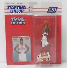 1996 Kenner Starting Lineup Extended Ser ALLEN IVERSON Action Figure w/Card NIP