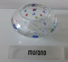 Murano Fratelli & Toso Millefiori with White Swirl Lines Glass Bowl