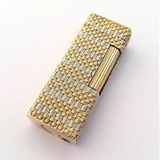 18K braided bi-color solid gold cased lighter, Dunhill Rollagas