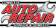 2'x4' COMPLETE AUTO REPAIR FOREIGN & DOMESTIC BANNER SIGN mechanic car service