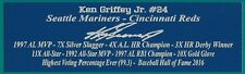Ken Griffey Jr Autograph Nameplate Seattle Mariners Auto Jersey Bat Baseball
