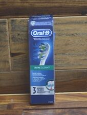 "Oral-B DUAL CLEAN 2 Replacement Brush Heads ""New Open"" 2 Left"