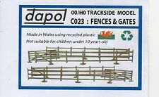 FENCES & GATES PLASTIC KIT C023 FOR MODEL RAIL OO / HO GAUGE, BRAND NEW