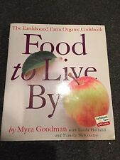 Food to Live by Myra Goodman Signed by Author Earthbound Farm Organic Cook Book