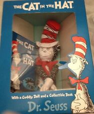 Dr Seuss The Cat In The Hat Cuddly Doll And Collectible Book 1994 Original Box