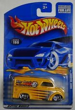 YELLOW BIG LOU'S DAIRY SPEEDY DELIVERY 2001 #199 HOT WHEELS 1/64 DIECAST CAR