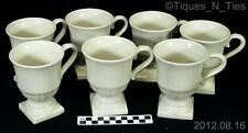 Set of 7 Wedgwood ENGLISH TERRACE STONE Pedestal Coffee Mugs Stoneware China (FF