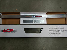 1964 Chevelle rear trunk molding with ends (NEW)