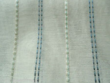 Harlequin Curtain Fabric UMBRA 3.2m x 3.0m Decorative Sheer Blue Stripe Design