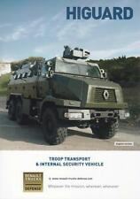 RENAULT HIGUARD 2016 6x6 FRENCH ARMY MILITARY BROCHURE PROSPEKT FOLDER