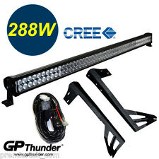 50inch Off Road 288W CREE LED Light Bar Mounting Bracket Jeep JK Wrangler 07-15