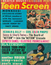 Rare Teen Screen Magazine May 1967 The Monkees Beatles Sonny & Cher Vintage Ads