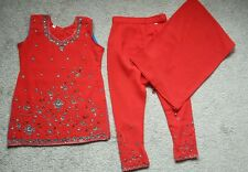 NEW Girls Indian Asian Suit Party wear Red