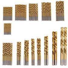 99pcs Titanium Coated HSS High Speed Steel Twist Drill Bit Set Tool 1.5mm-10mm