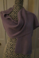 Portolano Women's Lightweight Cashmere Periwinkle (Light Purple) Scarf NWT $150