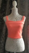 River Island Coral Cropped Stretch Fit Top Size 12