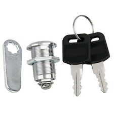 20mm CAM LOCK for Filing Cabinet Mailbox Drawer Cupboard Locker + 2x Secure Keys
