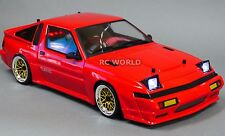 1/10 RC Car Body Shell  Mitsubishi STARION Toyota SUPRA Turbo  W/ Light Buckets