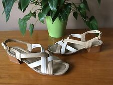 Ladies Amalfi Rangoni beige all leather slingback strappy sandal UK 5 EU 38 AA