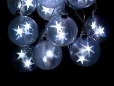 Star Sphere String of 6 Light Lighted LED Holographic Party Decoration
