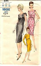 "Vintage 1960s Vogue Sewing Pattern Women's DRESS 6191 Size 14 Bust 34"" UNCUT"