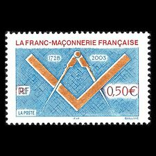 France 2003 - 275th Anniversary of The Franc-Maconnerie - Sc 2967 MNH