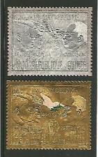 "Guinea 1970 J. & R. Kennedy M.L.King USA ""Martyrs of Peace"" Gold Siver Foil MNH"