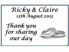 42 Personalised Wedding Silver Rings Thank you Labels 3 for 2 Address Stickers